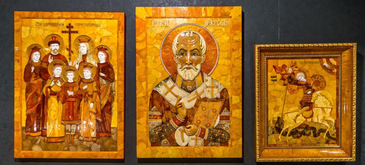 Флорентийская мозаика: янтарные иконы