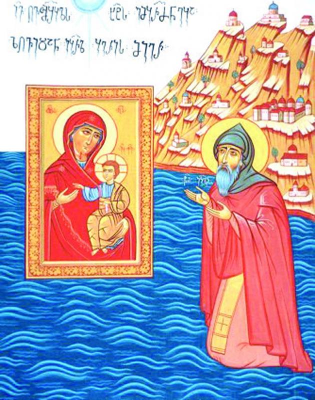 Иверская икона Божией Матери приплывает в руки Гавриила
