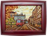 Панно «Львовский трамвай»