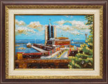Панно «Морской порт в Одессе»