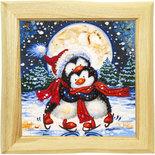 Панно «Новогодние пингвинчики»