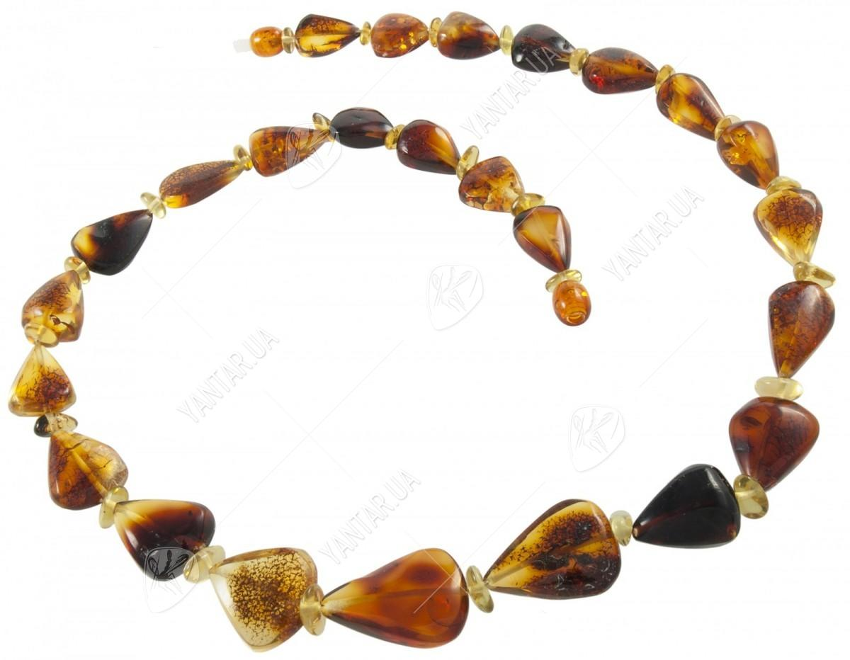 Amber bead necklace Нп-64б