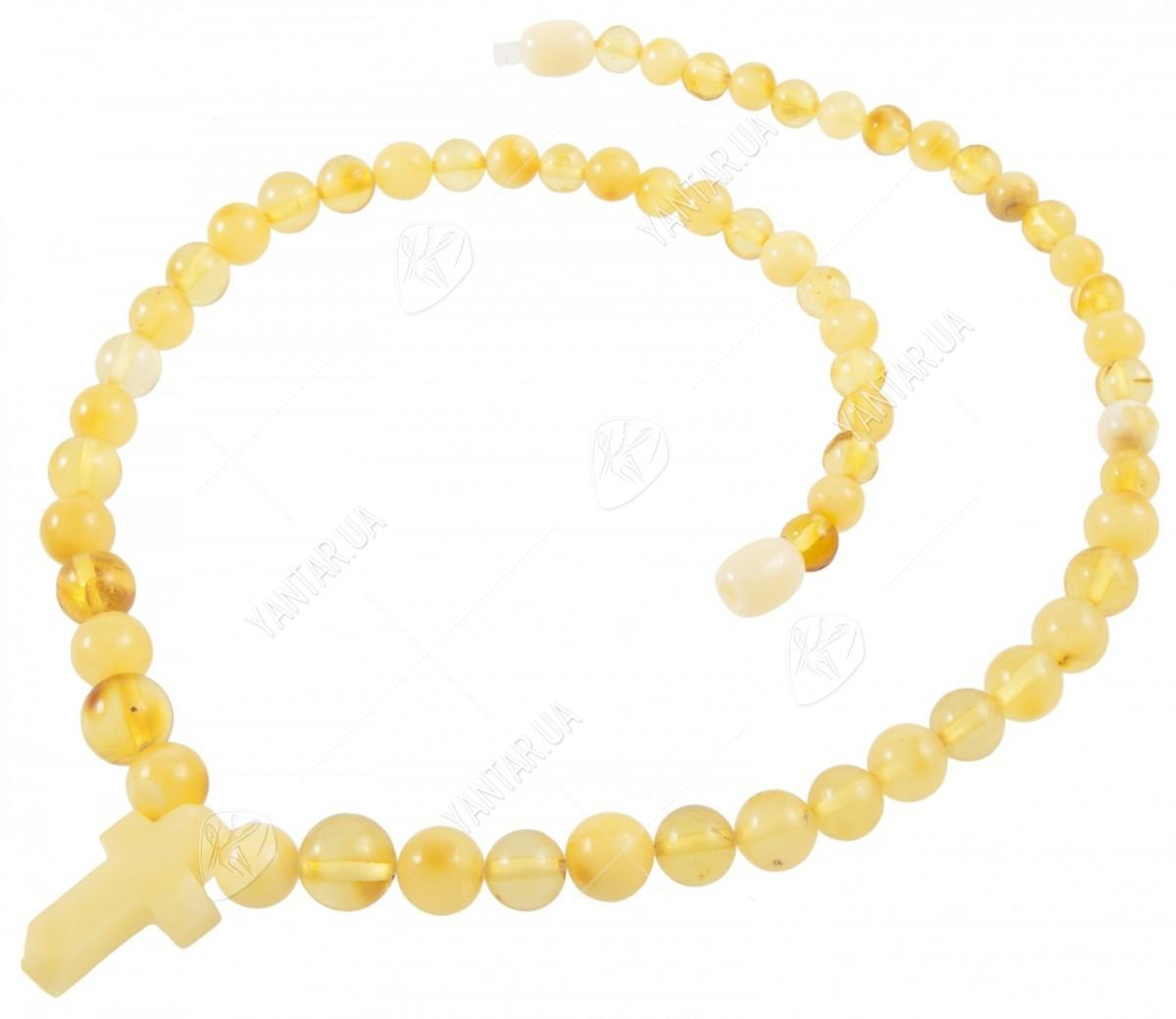 Amber bead necklace Нп-82а
