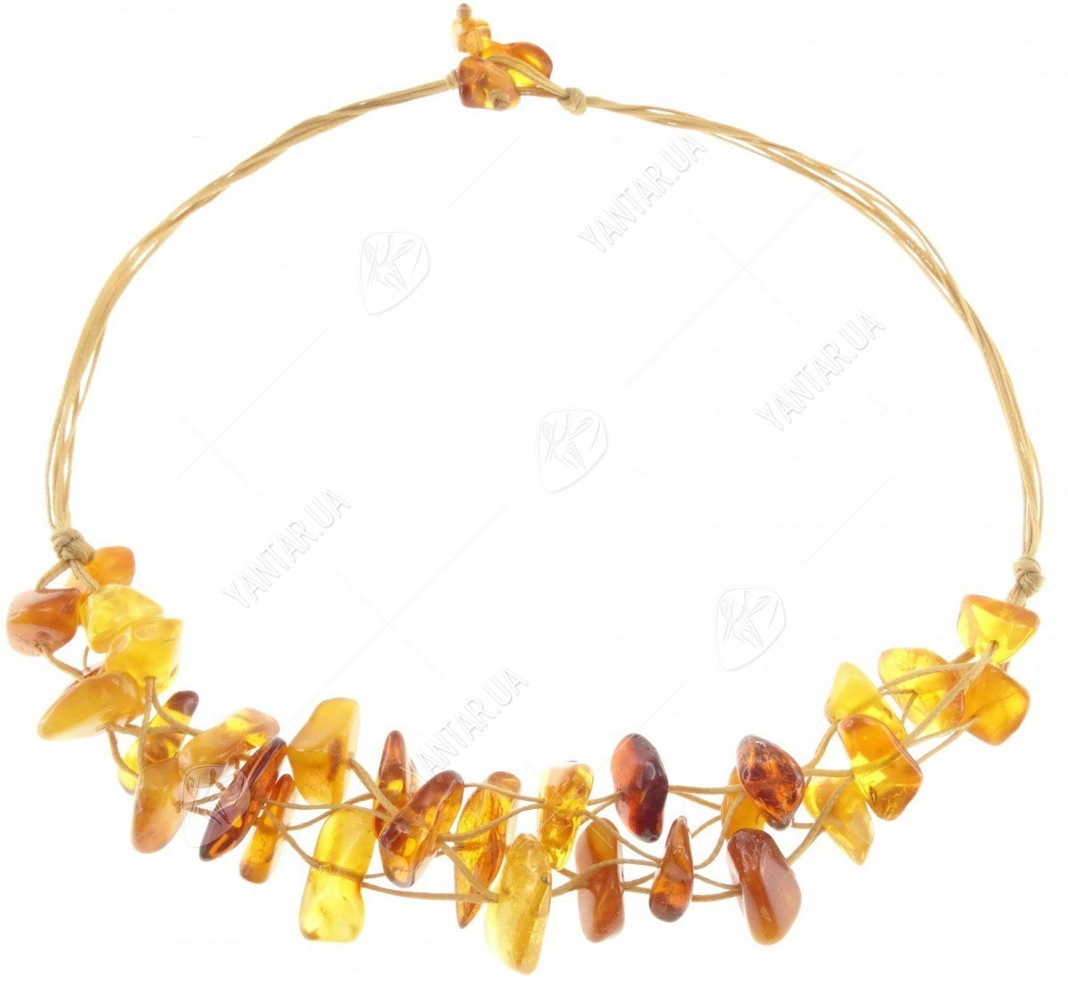 Amber bead necklace Нп-90