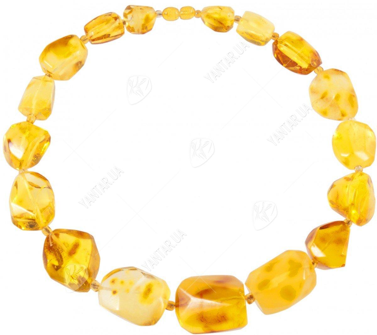 Amber bead necklace Нп-80-666