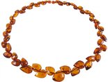 Amber bead necklace Нп-64