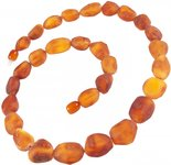 Amber bead necklace Нш-62