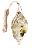Кулон из полированного светлого камня янтаря