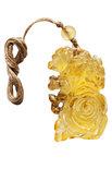 Кулон резьбленный из янтаря «Роза»