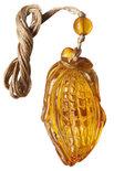 Кулон из янтаря «Кукуруза»