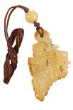 Кулон резьбленный из янтаря «Рыбка»