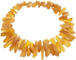 Amber bead necklace Нш-36