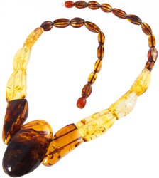 Amber bead necklace Нп-68