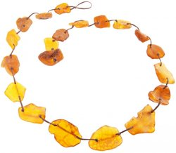 Amber bead necklace Нш-20