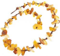 Amber bead necklace Нш-55