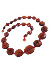 Amber bead necklace NP83