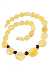Amber bead necklace NP164