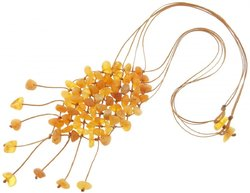 Amber bead necklace Нш-26