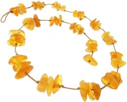 Amber bead necklace Нш-03