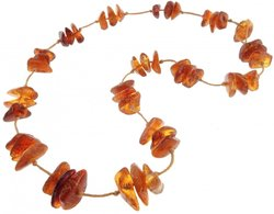 Amber bead necklace Нп-03