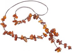 Amber bead necklace Нп-16