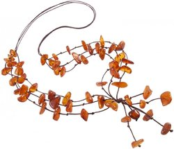 Amber bead necklace Нп-15