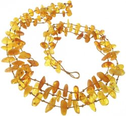 Amber bead necklace Нп-25
