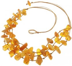 Amber bead necklace Нп-21