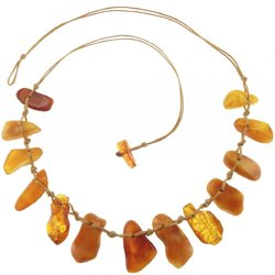 Amber bead necklace Нп-35