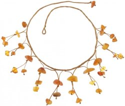 Amber bead necklace Нп-12