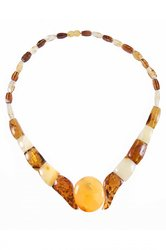 Amber bead necklace NP139