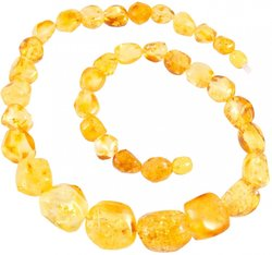 Amber bead necklace Нп-63