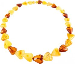 Amber bead necklace Нп-72