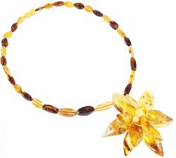 Amber bead necklace Нп-67
