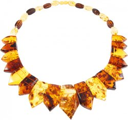 Amber bead necklace Нп-73