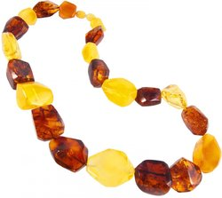 Amber bead necklace Нп-80-585