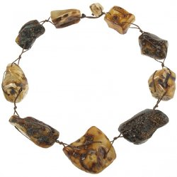 Amber bead necklace Нп-87а