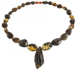Amber bead necklace Нп-83