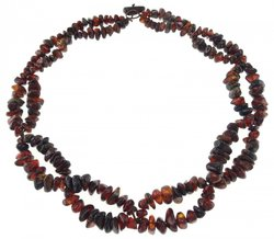 Amber bead necklace Нп-08