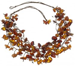 Amber bead necklace Нп-29