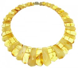 Amber bead necklace Нп-28