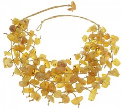 Amber bead necklace Нш-29