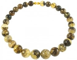 Amber bead necklace Нп-318