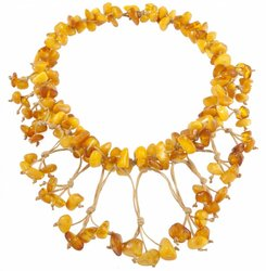 Amber bead necklace Нп-55а