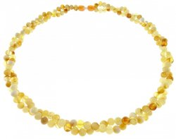 Amber bead necklace Нп-82