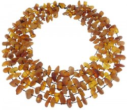 Amber bead necklace Нш-17
