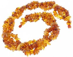 Amber bead necklace Нп-30