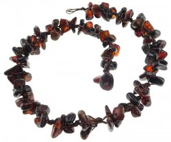 Amber bead necklace Нп-55