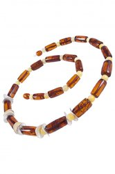 Amber bead necklace NР900