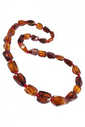 Amber bead necklace NP80
